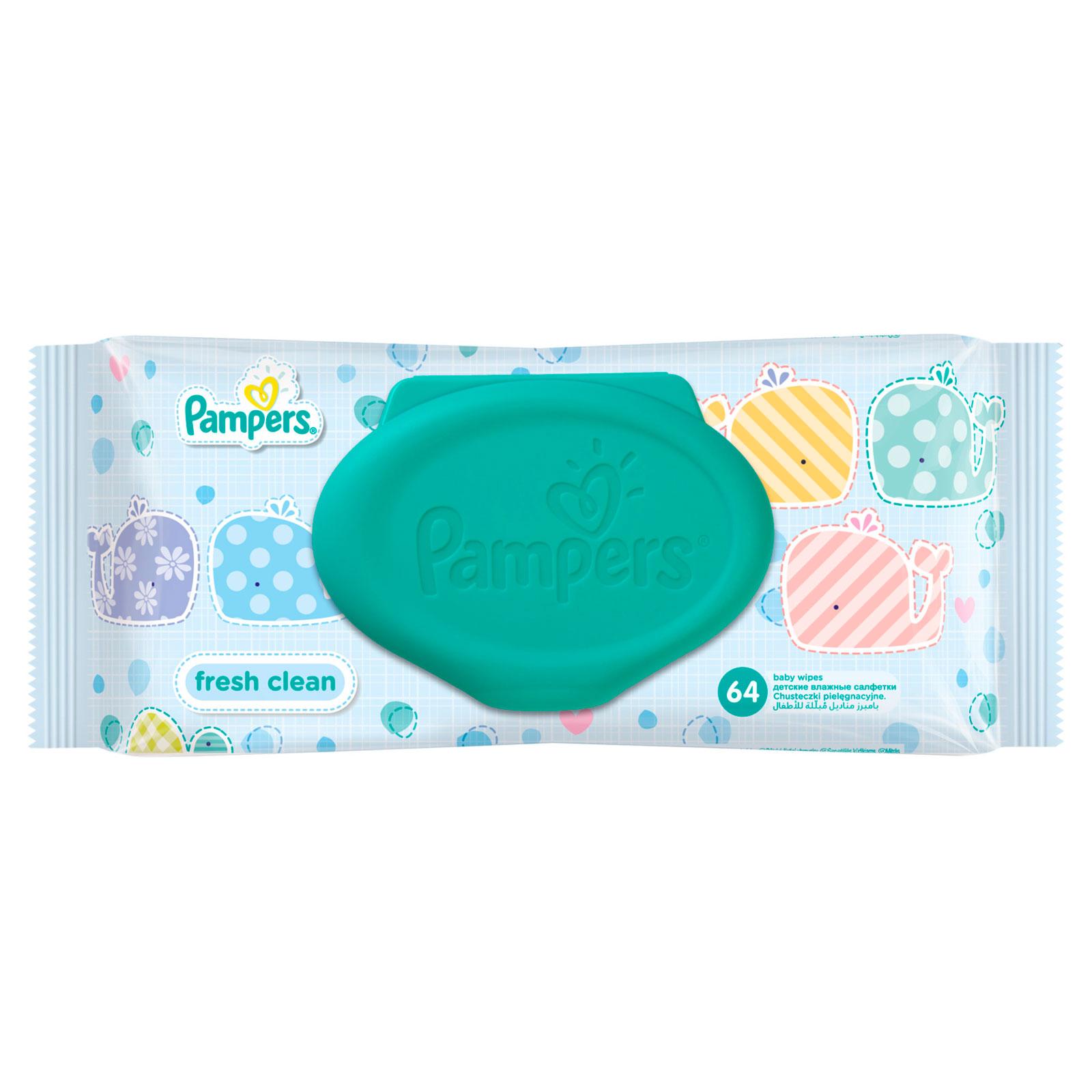 Салфетки влажные Pampers Baby Fresh Clean с алоэ (запасной блок) 64 шт<br>