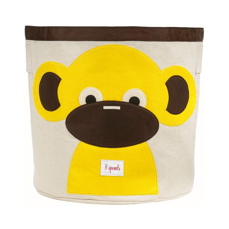 Корзина для хранения 3 Sprouts Обезьянка (Yellow Monkey) Арт. 67541<br>