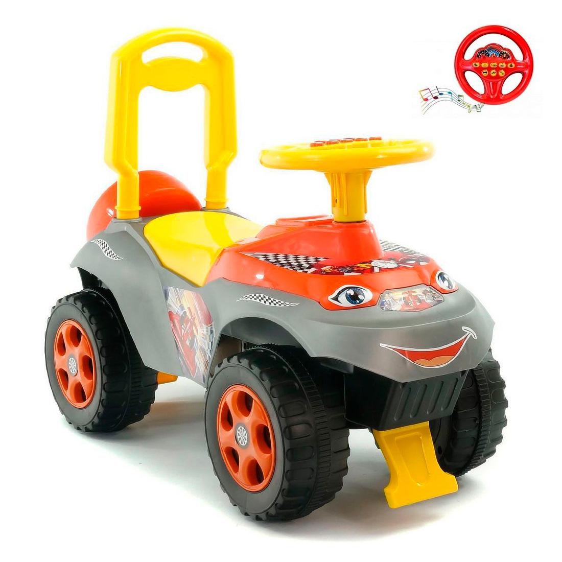 Каталка-толокар RT Автошка Formula с музыкальным рулем Желто-Оранжевая<br>