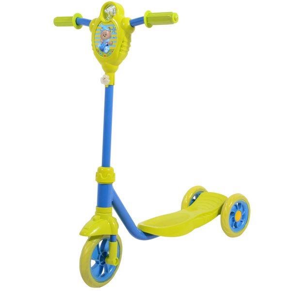 Самокат городской Foxx Baby с пластиковой платформой Лимонно-синий<br>