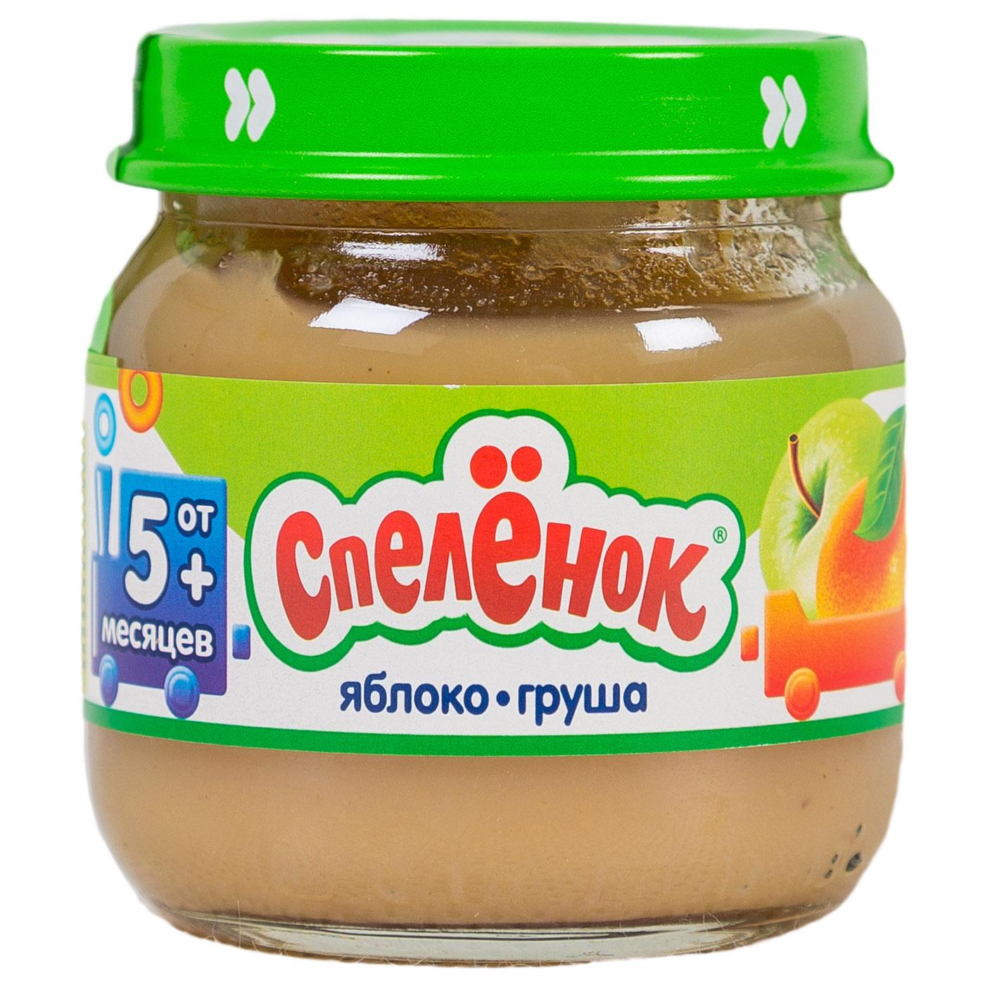Пюре Спеленок фруктовое 80 гр Яблоко с грушей (с 5 мес)<br>