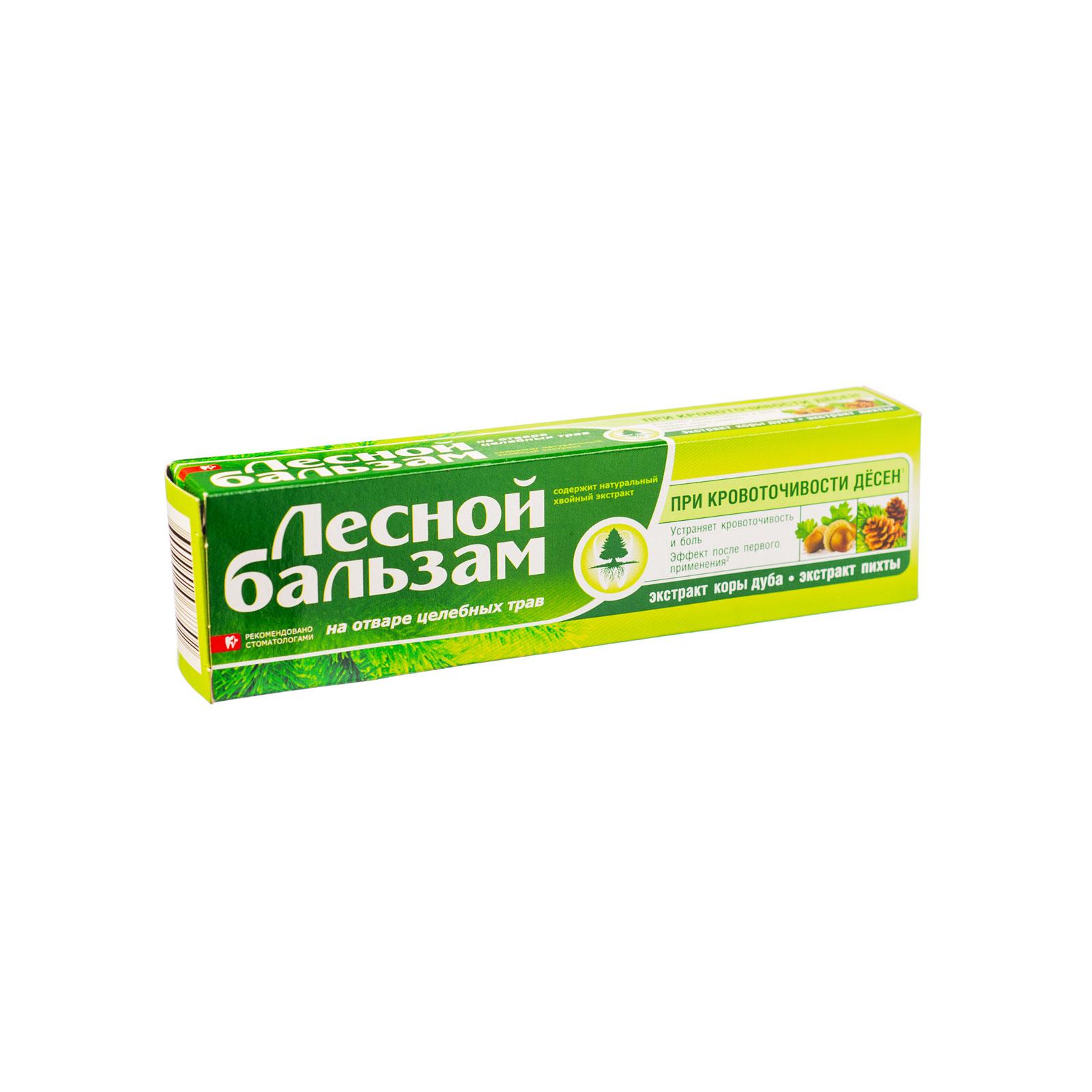 Зубная паста Лесной бальзам 50 мл с экстрактами коры дуба и пихты<br>