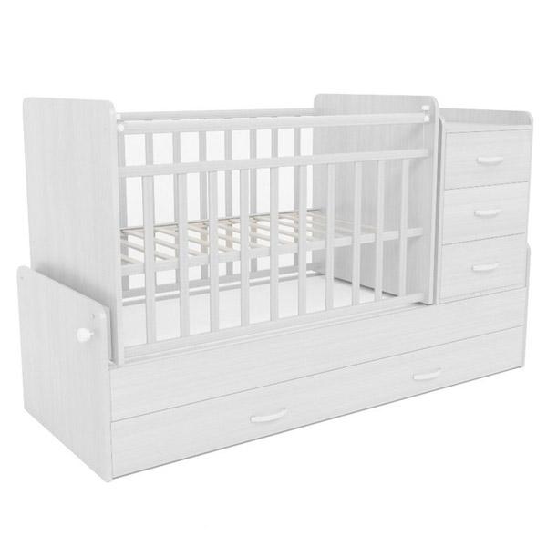 Кроватка-трансформер СКВ компани 53403 Белый<br>