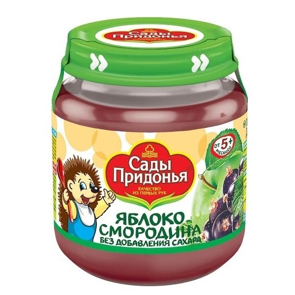 Пюре Сады Придонья фруктовое 120 гр Яблоко смородина (с 5 мес)<br>