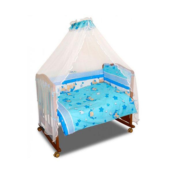 Комплект Папитто Мишки 7 предметов Голубой<br>