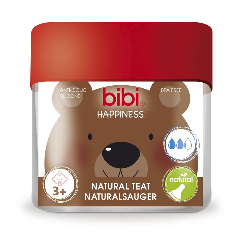 Соска Bibi Natural Happiness Силиконовая 2 шт (с 3 мес)<br>