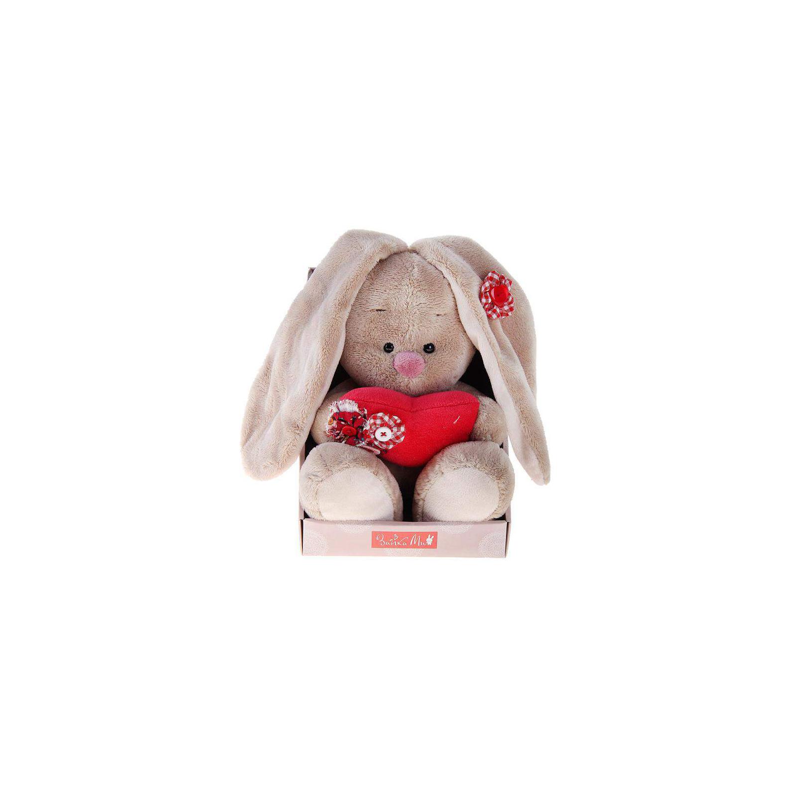 Мягкая игрушка Зайка Ми с сердечком 18 см