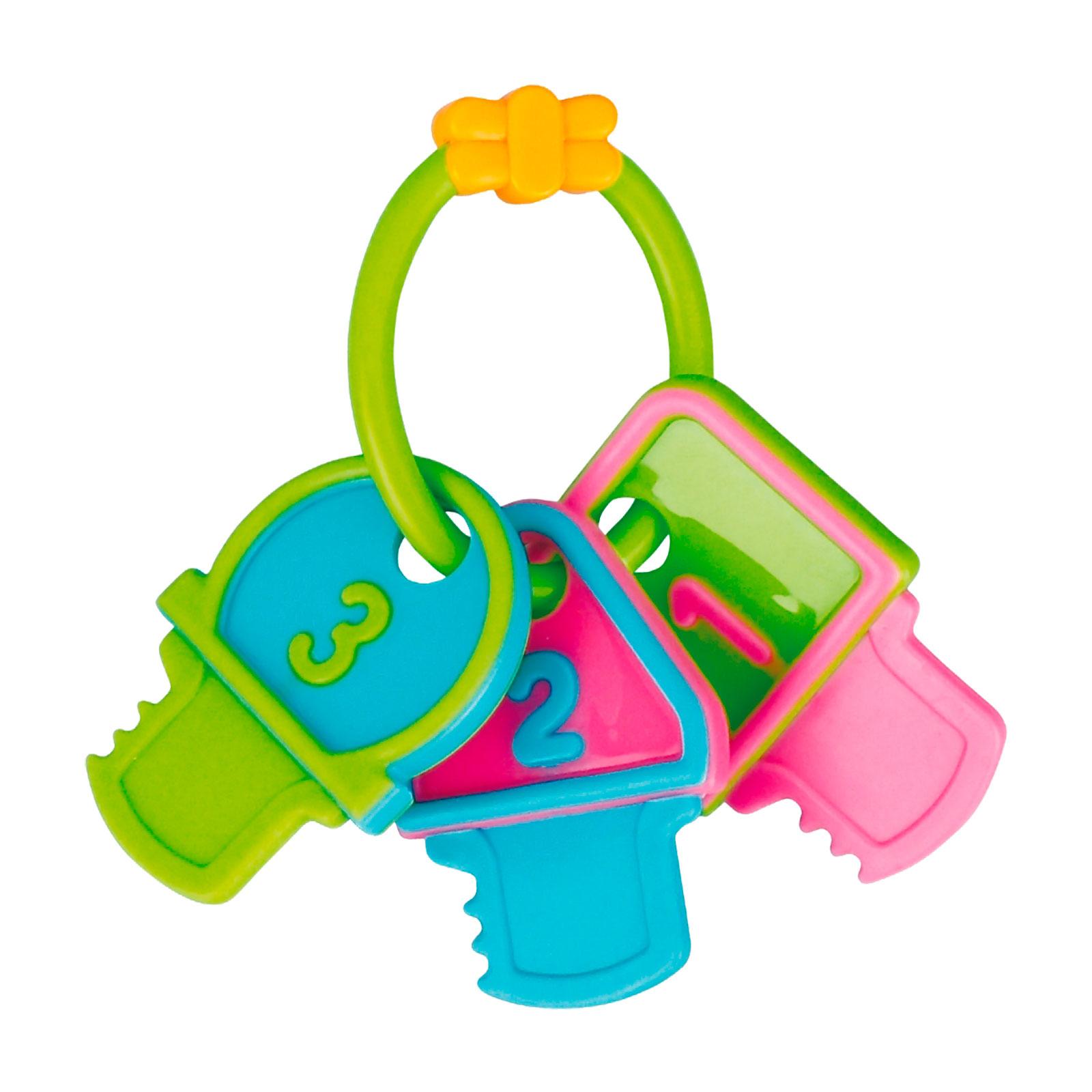 Погремушка-прорезыватель Canpol Babies Ключи Цифры Зеленый<br>