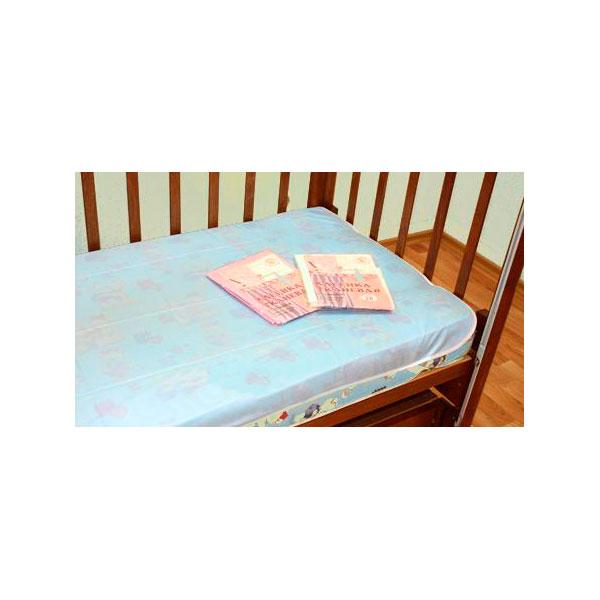 Клеёнка Осьминожка тканевая с резинкой дышащая Голубая<br>