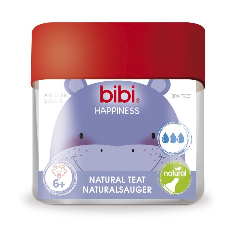 Соска Bibi Natural Happiness Силиконовая 2 шт (с 6 мес)<br>