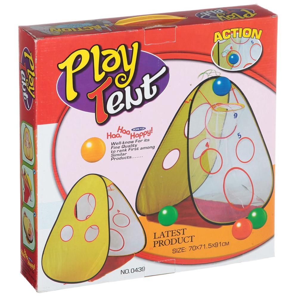 Игровой домик ШеньЖень Корзина для бейсбола с пластиковыми шарами 0440<br>