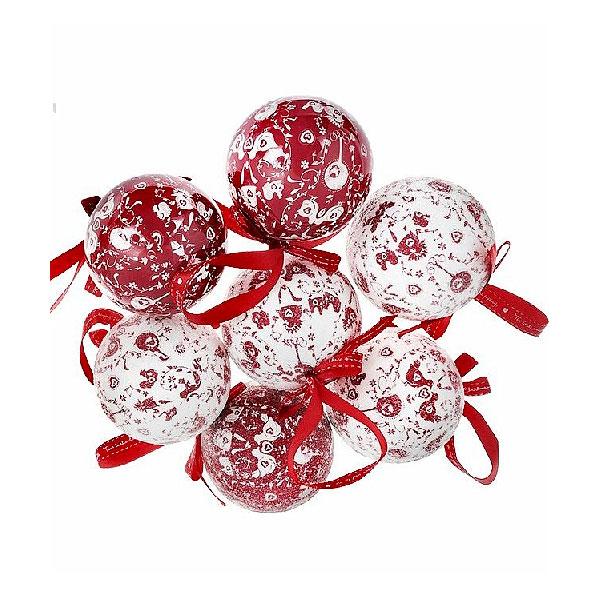 Набор шаров Winter Wings Me to you Фрости и блестящие 7.5 см пластик 14 штук в подарочной коробке<br>