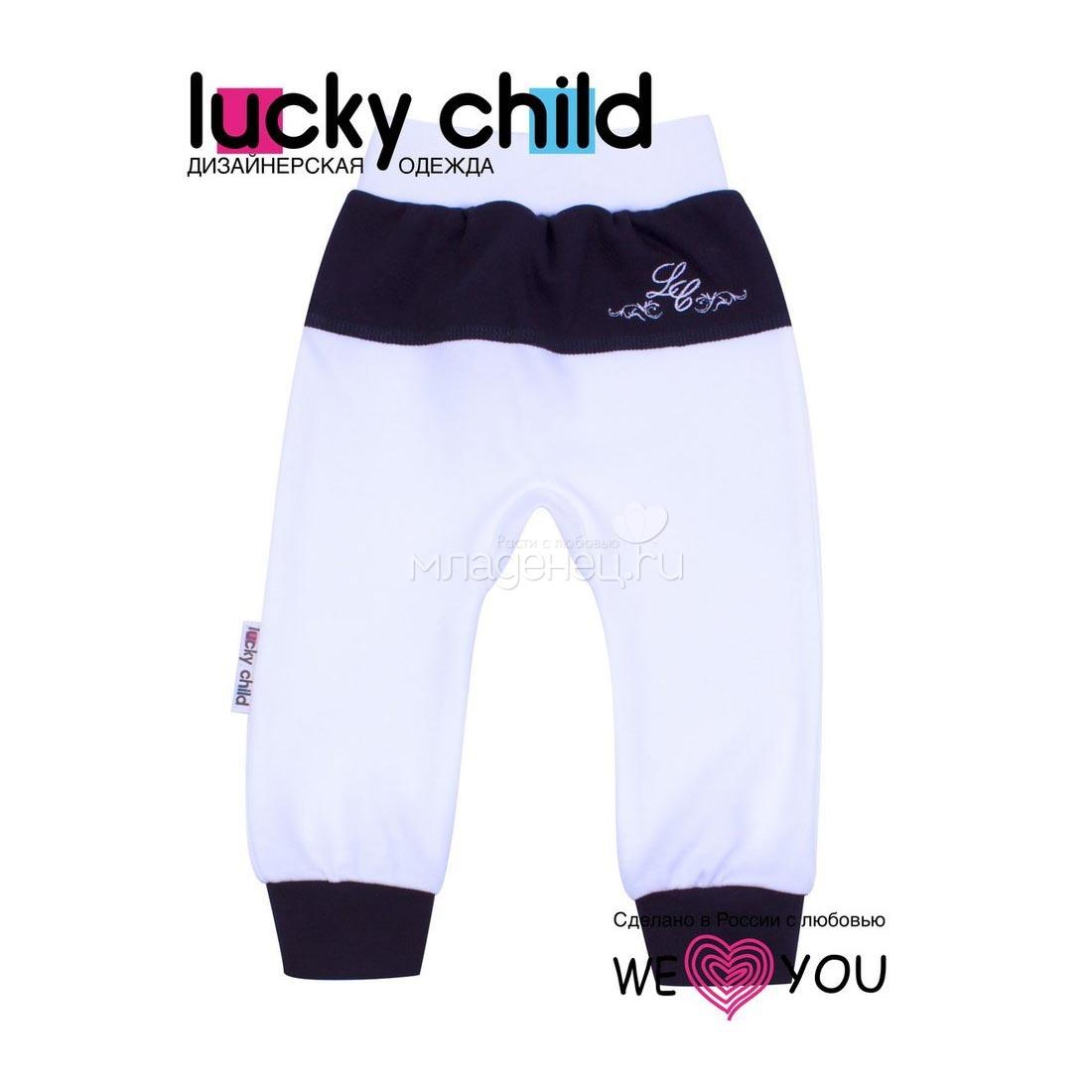 Штанишки Lucky Child Классик молочный рост 68