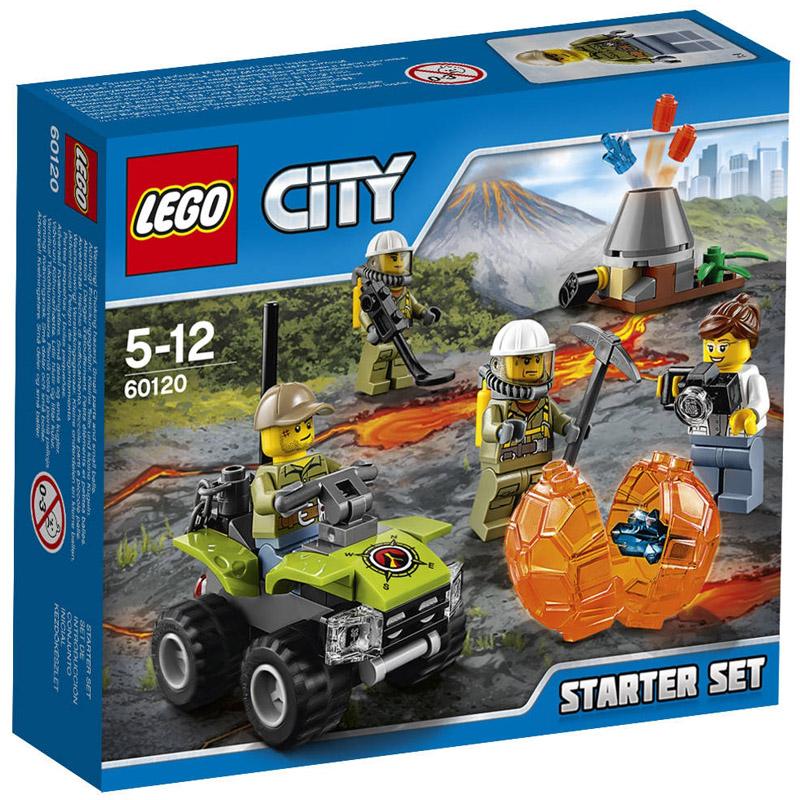 Конструктор LEGO City 60120 Набор для начинающих Исследователи вулканов<br>