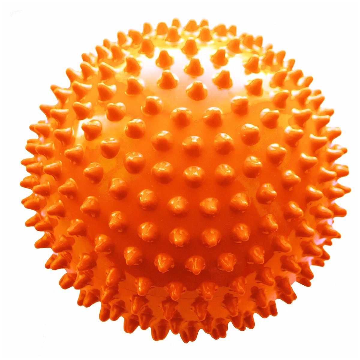 Мяч ежик МалышОК 12 см (сетка) оранжевый<br>