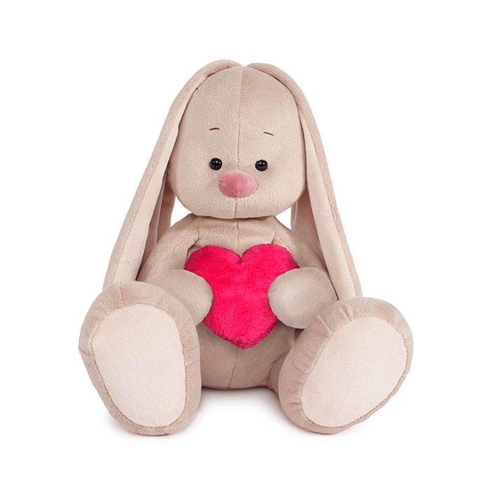 Мягкая игрушка Зайка Ми Игрушка мягконабивная Зайка Ми Большой с сердцем<br>