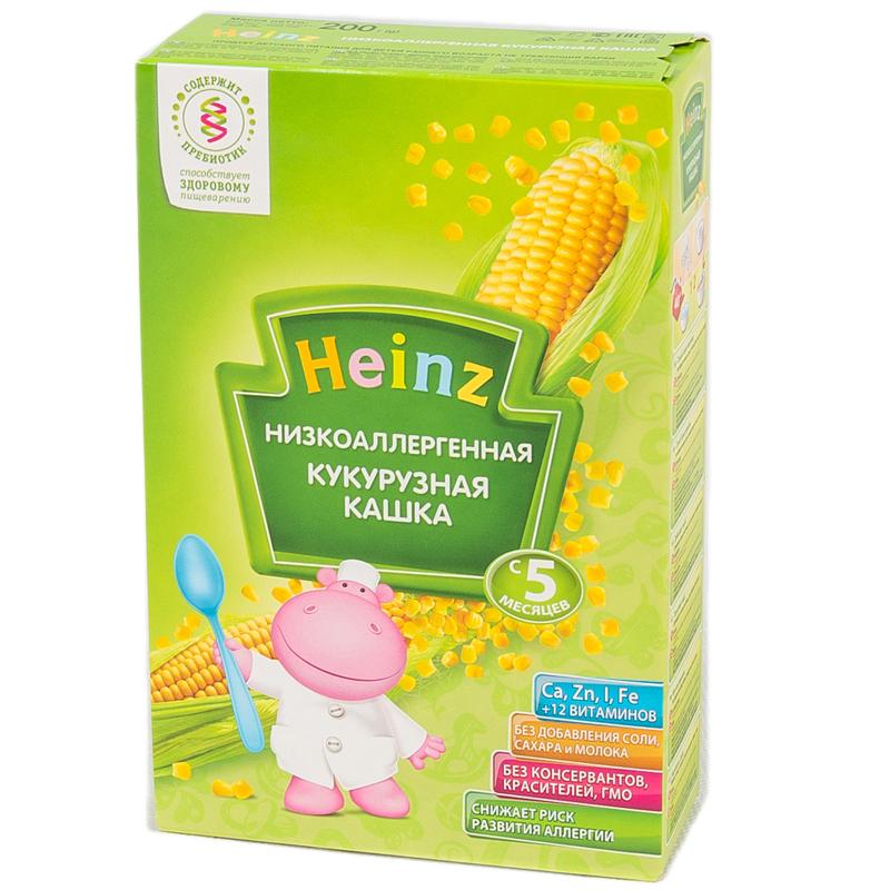 Каша Heinz низкоаллергенная безмолочная 200 гр Кукурузная (с 5 мес)<br>