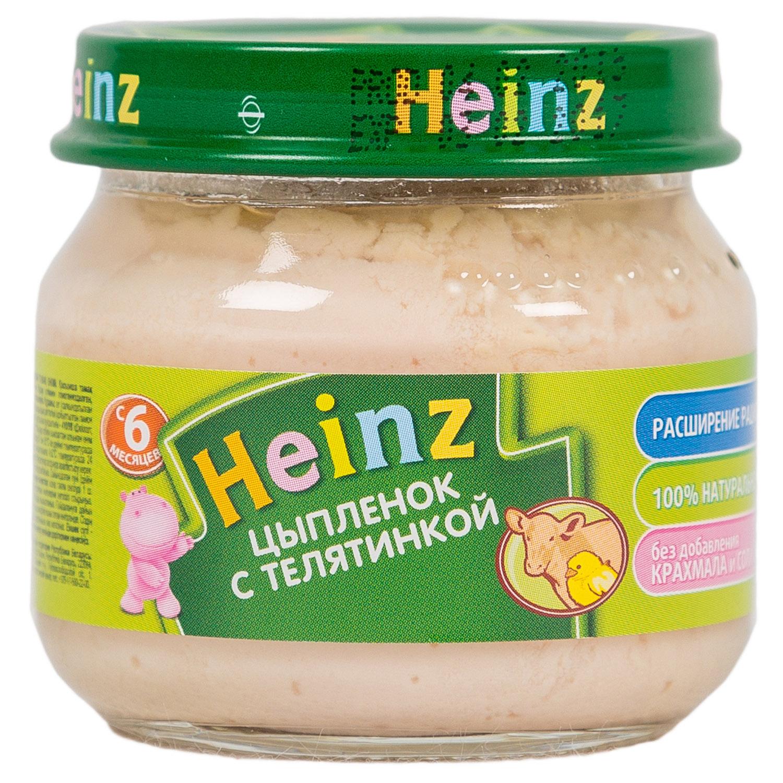 Пюре Heinz мясное 80 гр Цыпленок с телятиной (с 6 мес)<br>