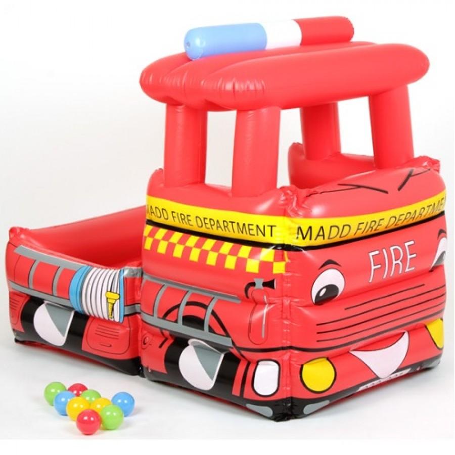 Сухой бассейн Upright надувной Пожарная машина + 50 шаров<br>
