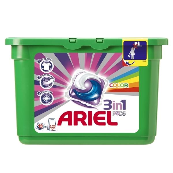 Капсулы Ariel для стирки Color &amp;amp; Style 15 х 28,8 гр<br>