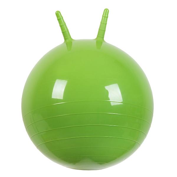 Мяч Прыгун МалышОк с рожками 50см Зеленый<br>