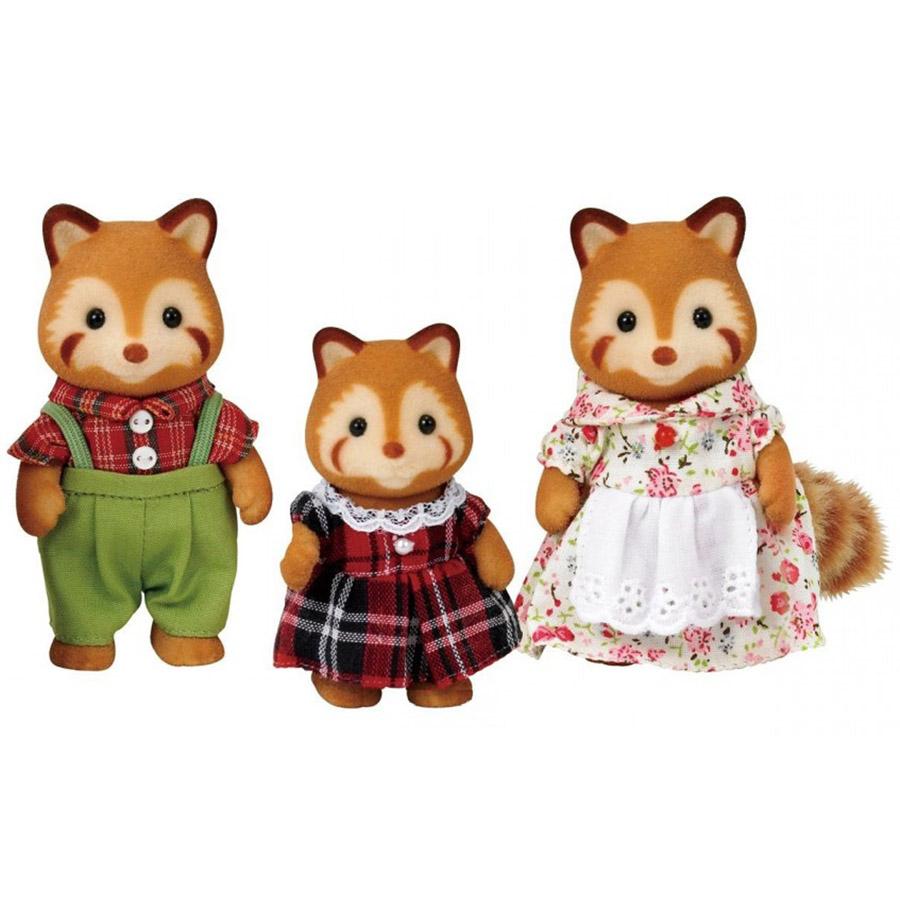 Игровой набор Sylvanian Families Семья Красных панд 3 фигурки<br>