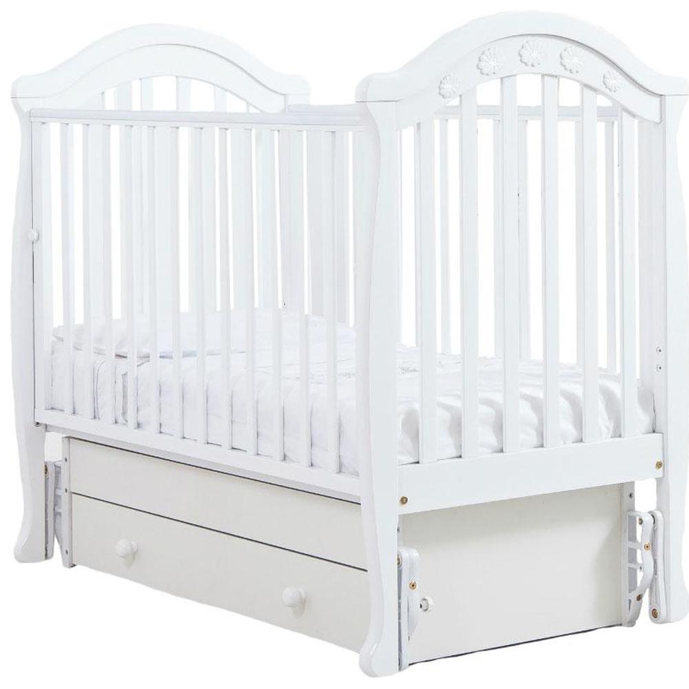 Кроватка Гандылян Джозеппе маятник Детская кроватка Gandilyan Гандылян Джозеппе маятник БЕЛЫЙ<br>