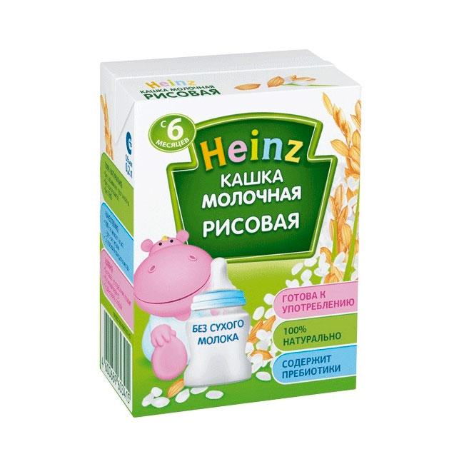 Каша Heinz молочная 200 мл (готовая) Рисовая (с 6 мес)<br>