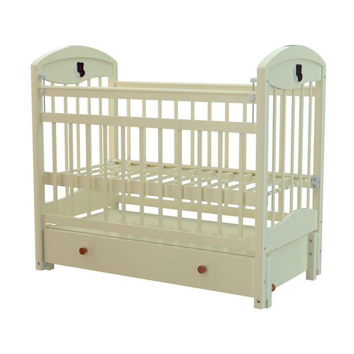 Кроватка Briciola 3 с продольным маятником Слоновая Кость<br>