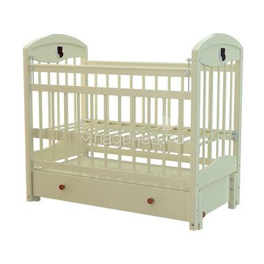 Кроватка Briciola 3 с продольным маятником Слоновая Кость