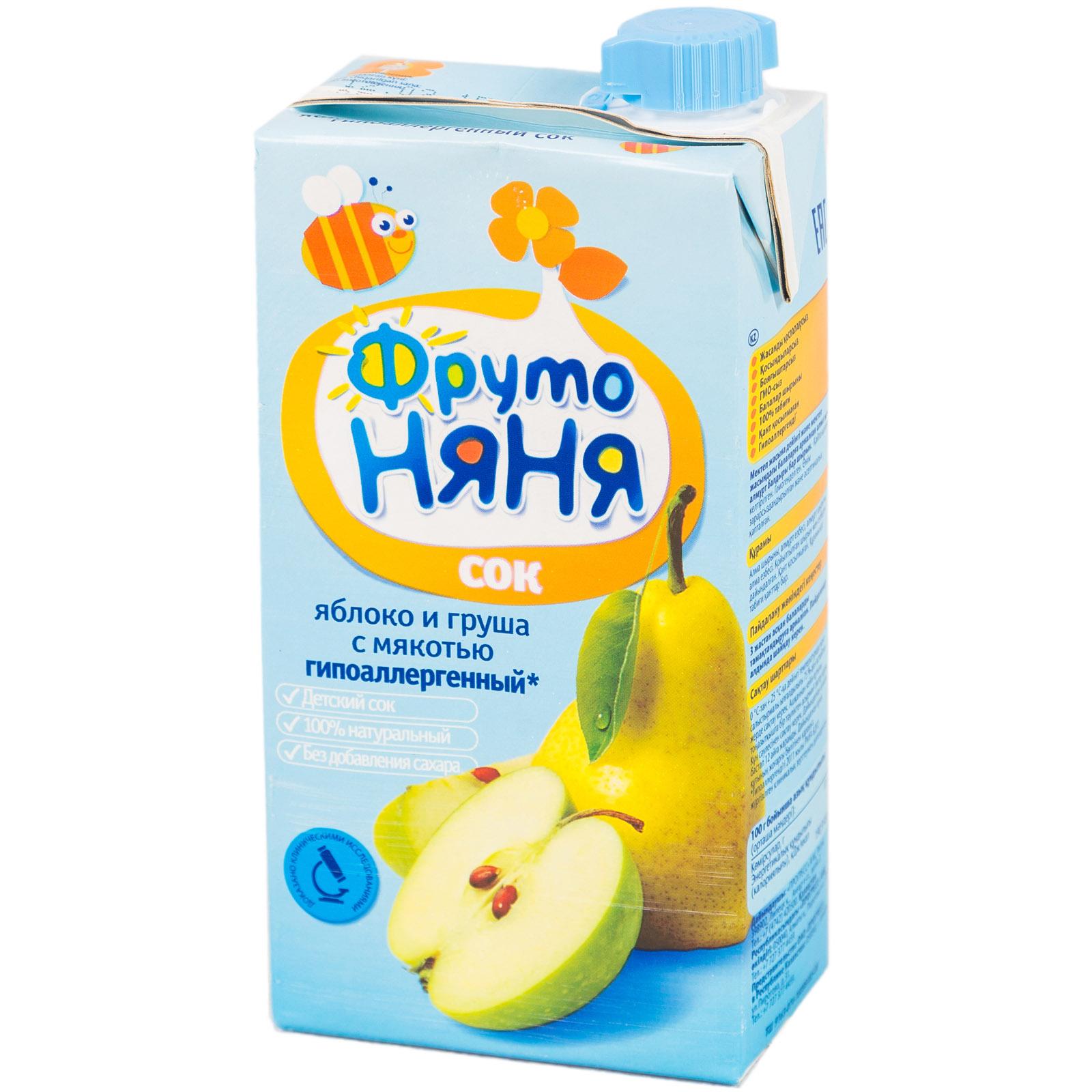 Сок Фрутоняня 500 мл Яблочно-грушевый с мякотью (с 3 лет)<br>