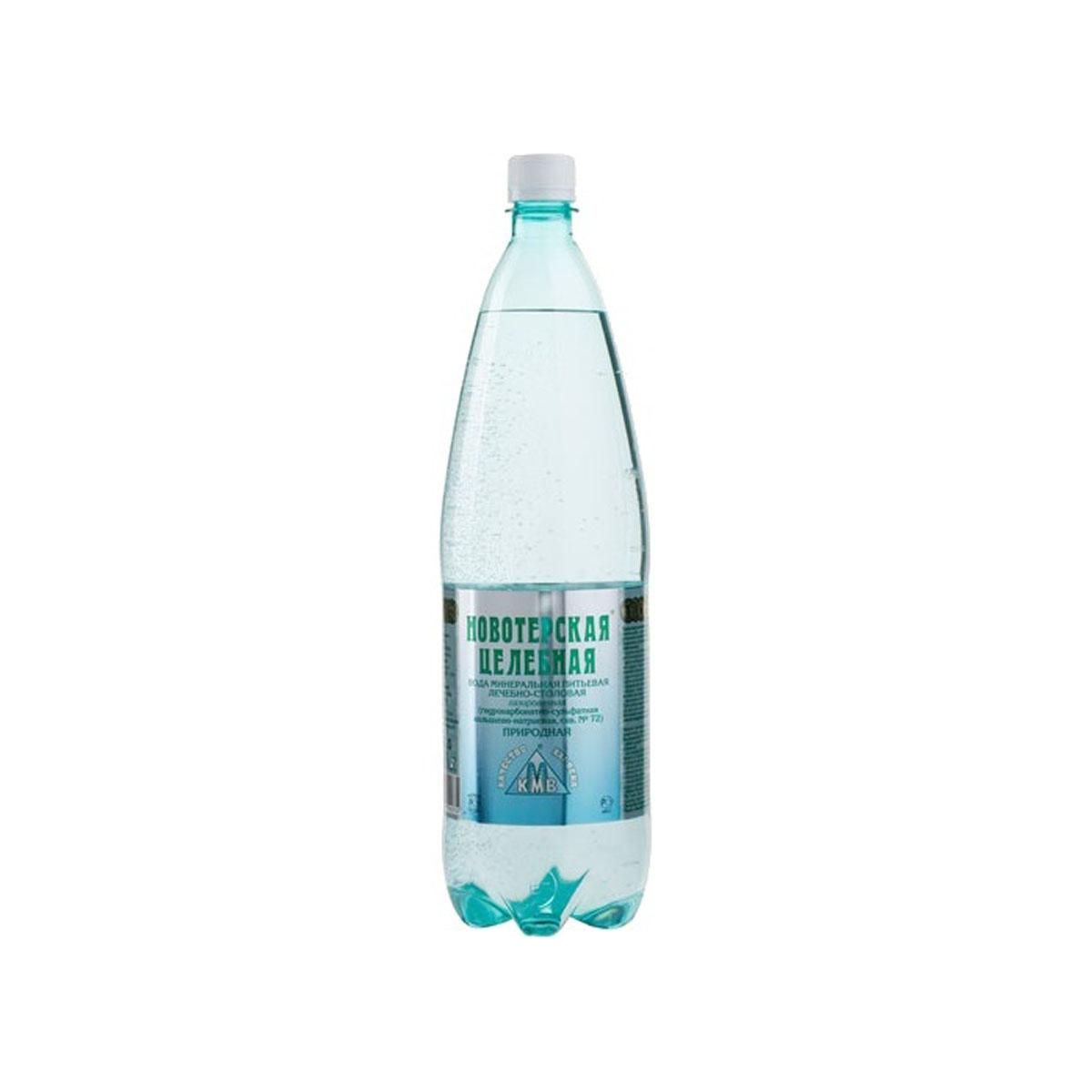 Вода минеральная Новотерская (пластик) Газированная 1,5 л (пластик)<br>