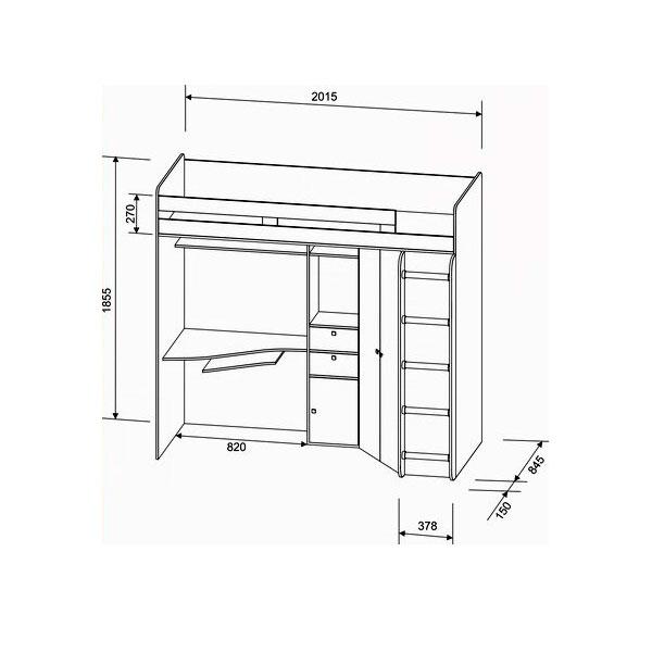 Набор мебели РВ-Мебель Астра Дуб молочный/Венге