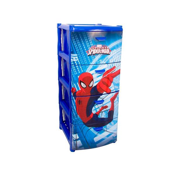 Комод M пластика Человек паук Синий<br>