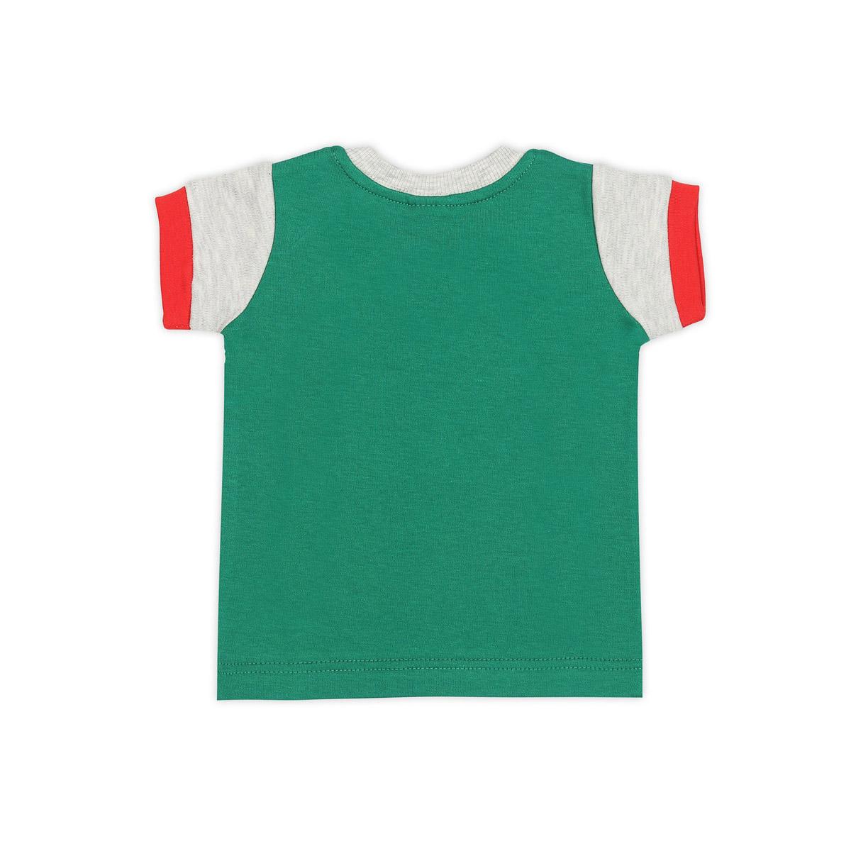 Футболка Ёмаё Хохлома (27-636) рост 74 светло серый меланж с зеленым