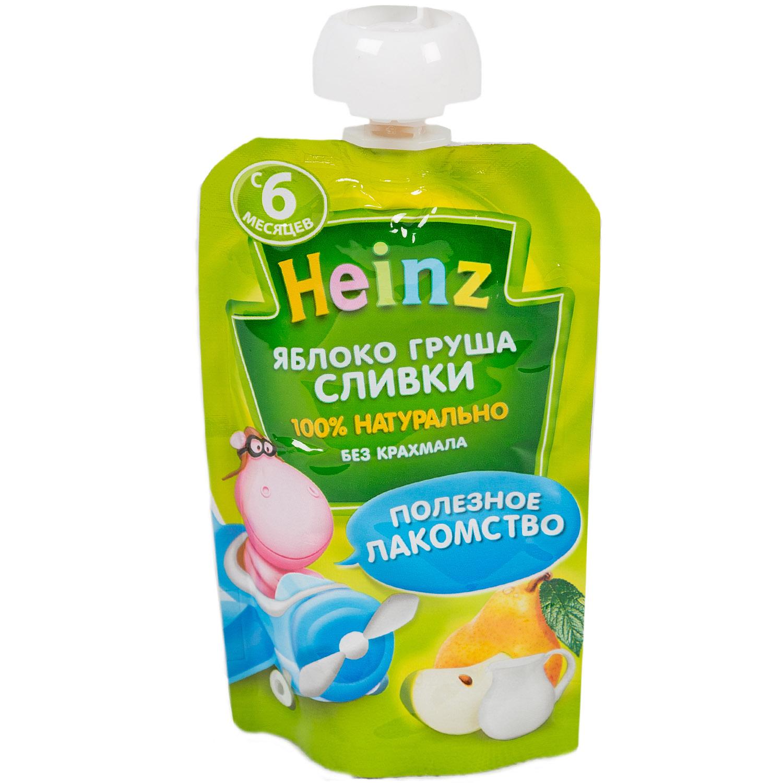 Пюре Heinz фруктовое со сливками 90 гр Яблоко груша (с 6 мес)<br>
