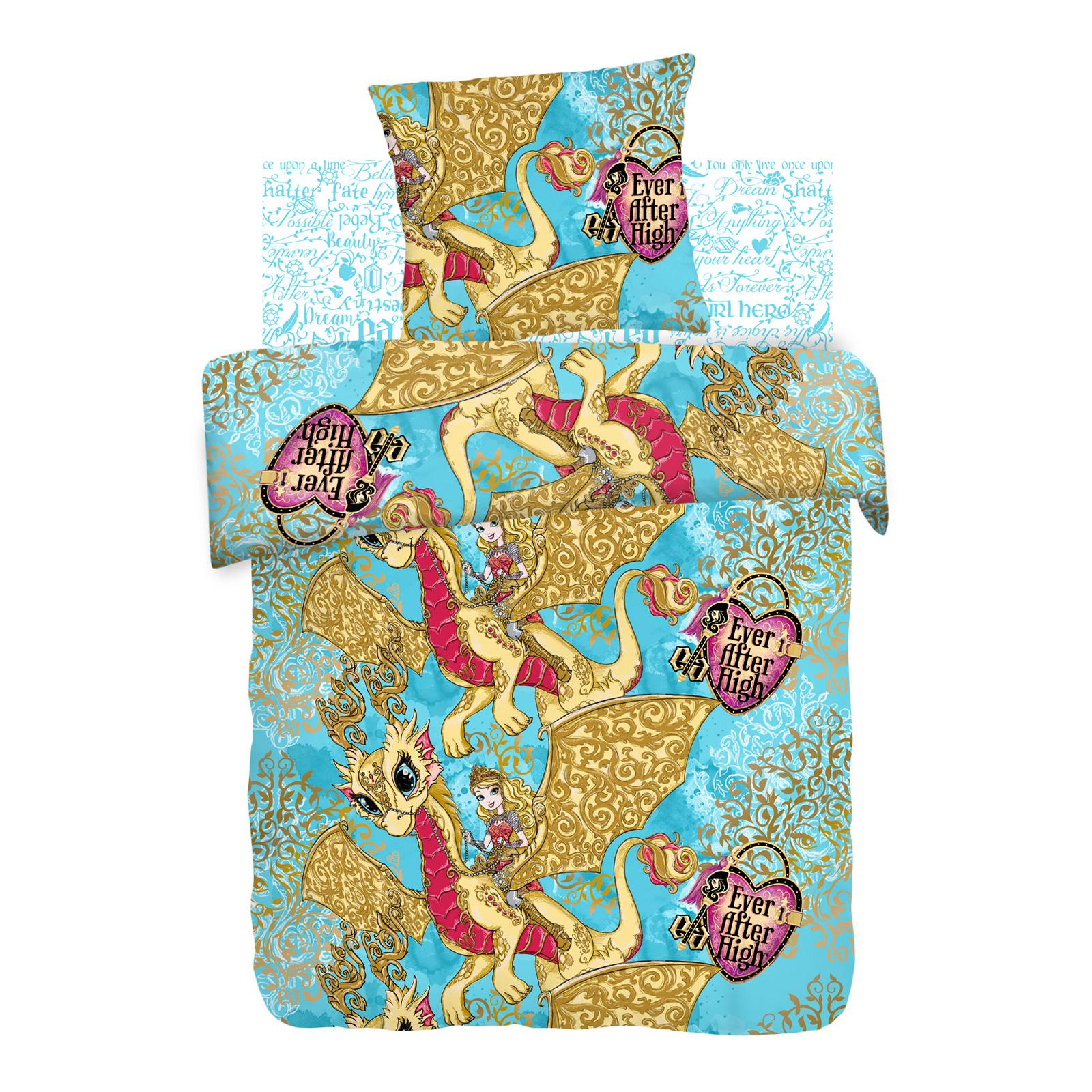 Комплект постельного белья детский 1,5 хлопок Непоседа Ever After High с наволочкой 70х70 Игры Драконов<br>