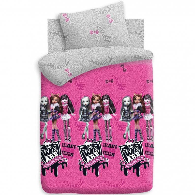Комплект постельного белья детский 1.5 поплин Непоседа Monster High с наволочкой 70х70 Куклы<br>
