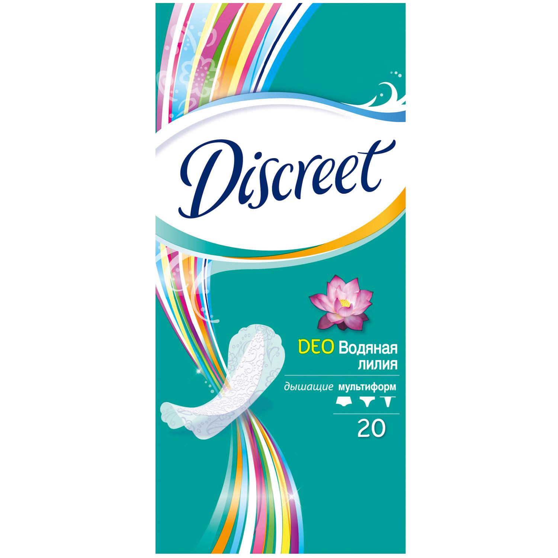 Прокладки гигиенические Discreet ежедневные Deo Water Lily Multiform Single 20шт<br>
