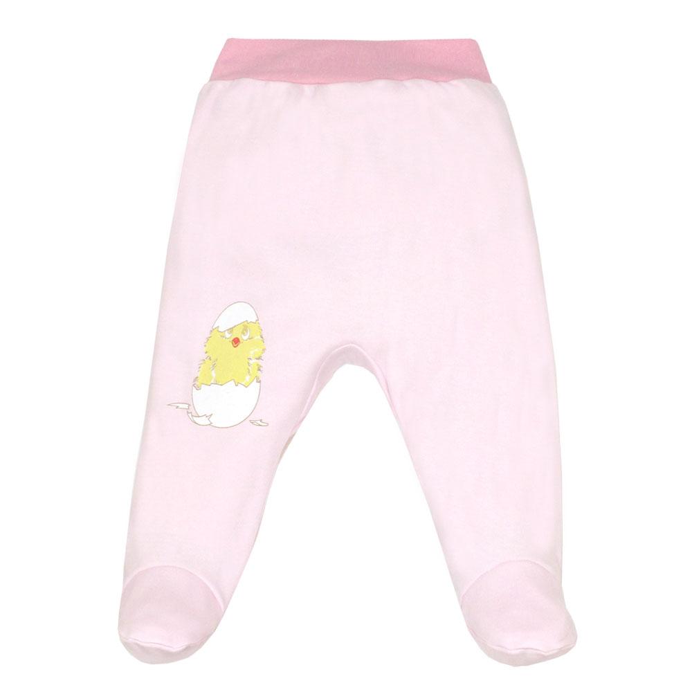 Ползунки на поясе КОТМАРКОТ для девочки, цвет розовый 1-3 мес (размер 62)