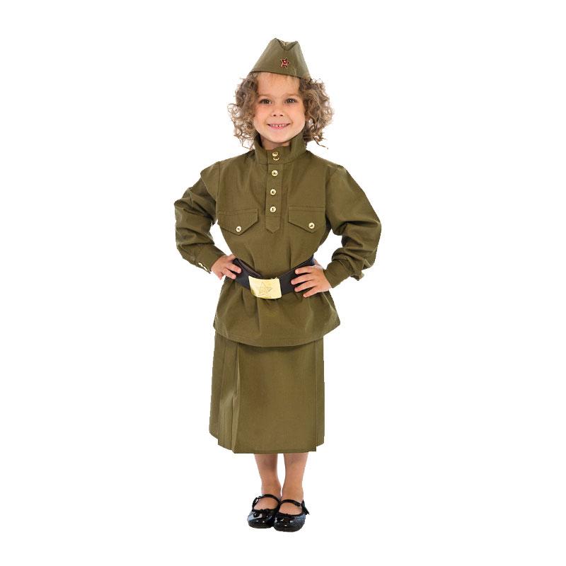 Детский костюм Великой Отечественной Войны для девочки (108003) рост 80-86<br>