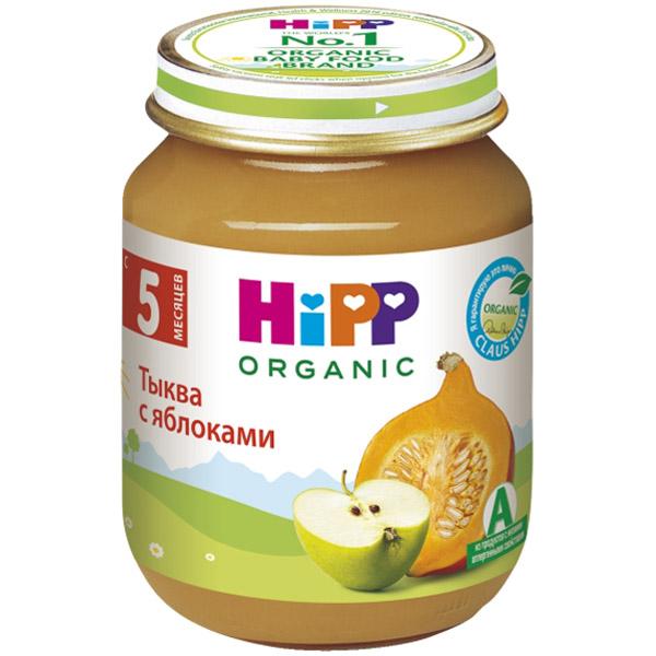 Пюре Hipp овощное 125 гр Тыква с яблоком (с 5 мес)<br>