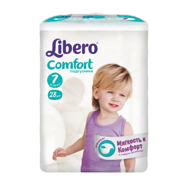 Подгузники Libero Comfort Extra Large+ 15-30 кг (28 шт) Размер 7