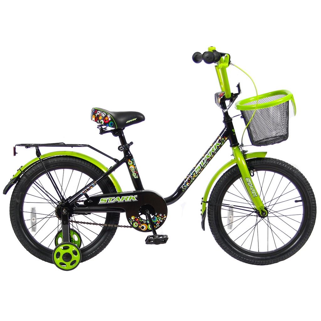 Велосипед двухколесный VeloLider 18 Lider Stark 18U-009 Черный/Зеленый<br>