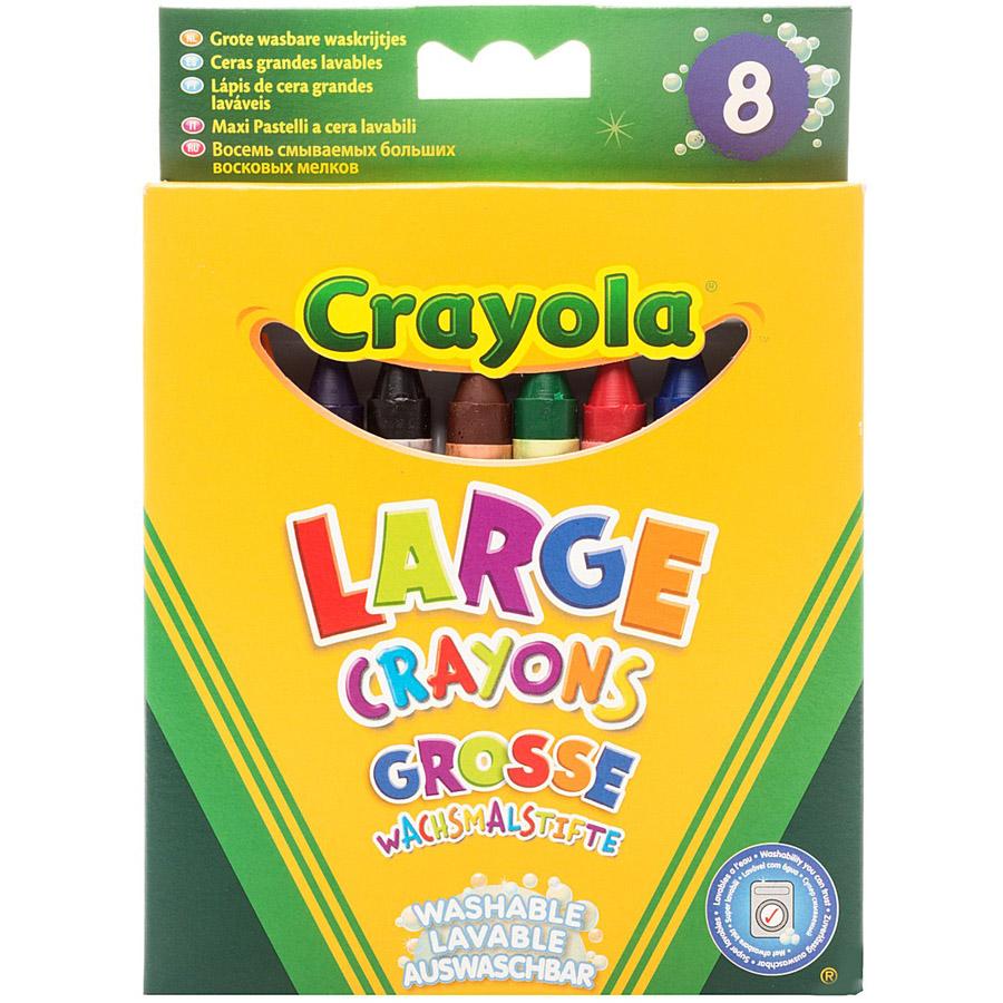 Мел Crayola Восковые смываемые<br>