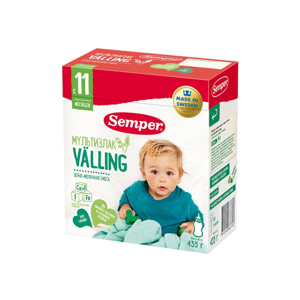 Зерно-молочная смесь Semper Веллинг 435 гр Мультизлаковая (с 11 мес)<br>