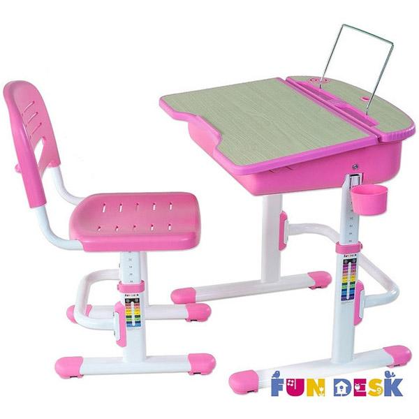 Набор мебели FunDesk Capri парта и стул Pink<br>
