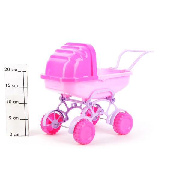 Коляска для кукол Melogo Люлька Баю-Бай розовая