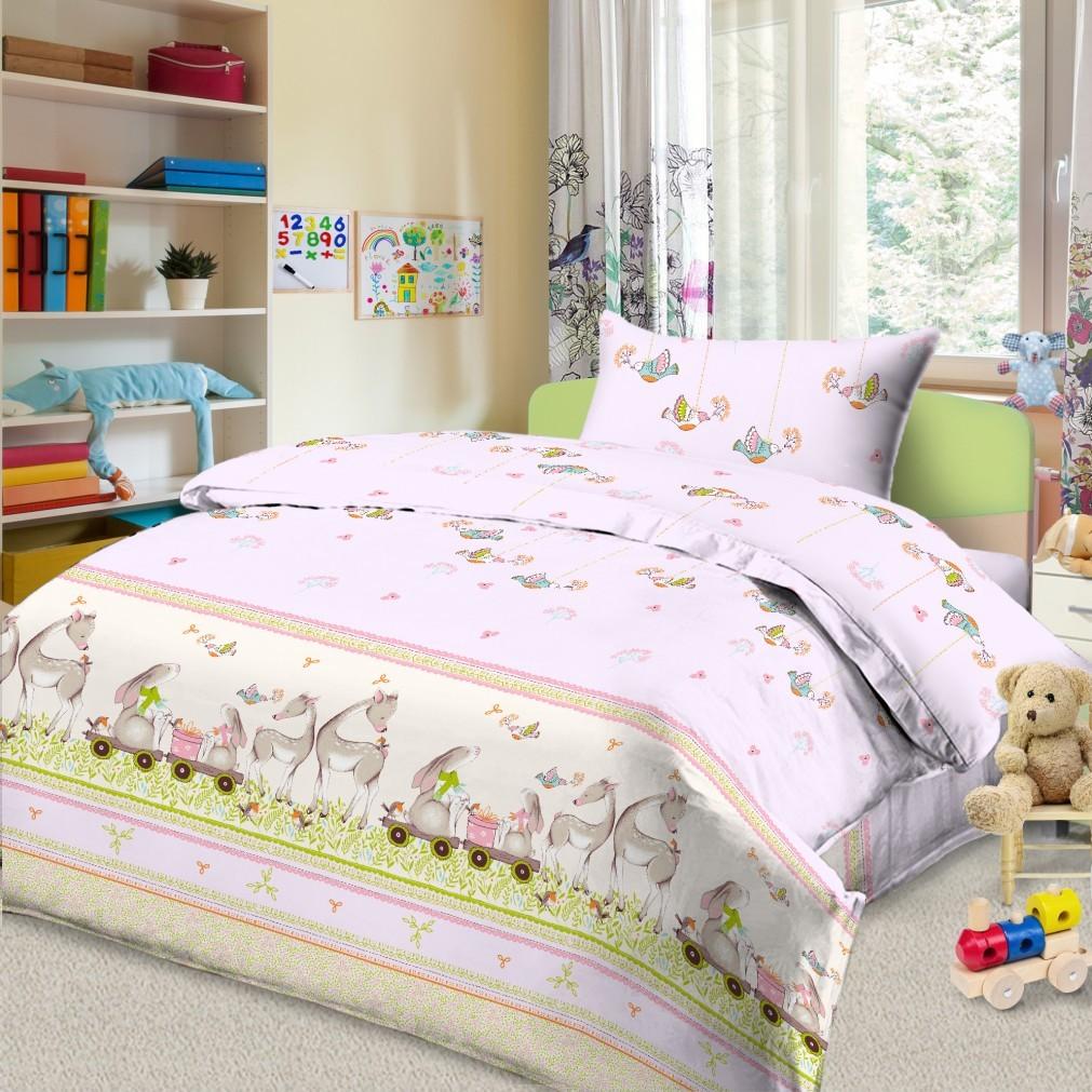 Комплект постельного белья детский Letto в кроватку BG-40<br>