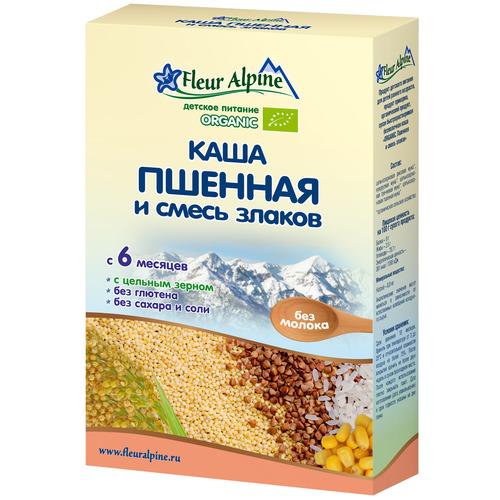 Каша Fleur Alpine Органик безмолочная 175 гр Пшенная и смесь злаков (с 6 мес)<br>